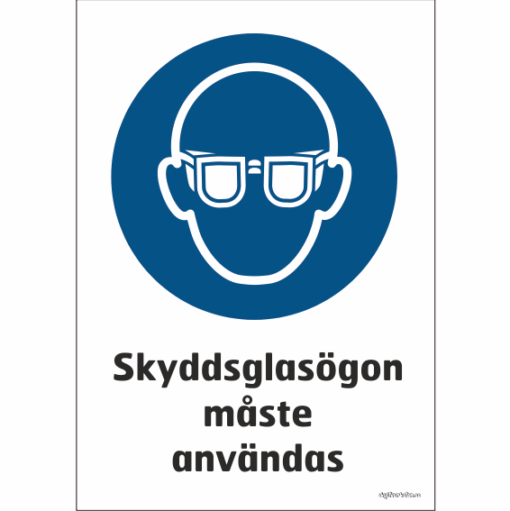 en person som använder ögonskydd