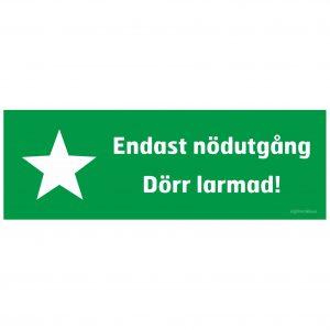 Grön skylt med stjärna