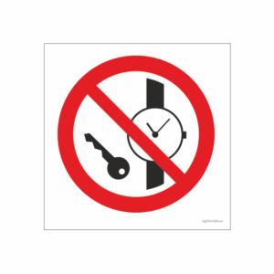 Klocka och nycklar förbjudet