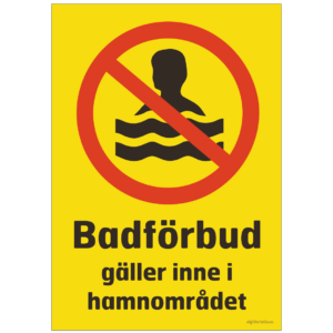 förbjudet att bada