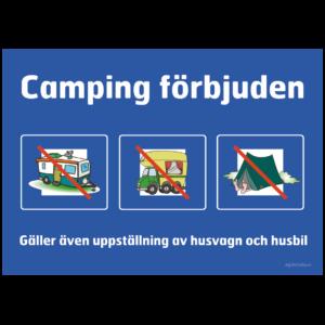 husbil husvagn tält